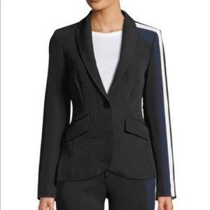 RACHEL Rachel Roy Darby Striped Long-Sleeve Blazer